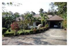 House for sale in Chiang rai: Beautiful house with garden (2 Rai)