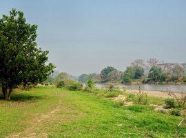 Land for sale in Chiang rai: 17 Rai, 35,000,000 Baht, Kok River, Doi Hang.